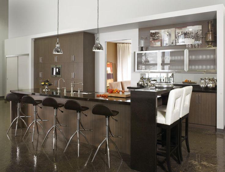 Armoires de cuisine en m lamine de style contemporain par for Cuisine americaine en l