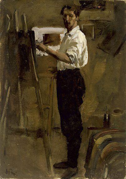chatsworthdowne: Artist in Studio by Hugh Ramsay, 1877-1906