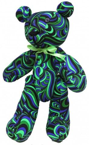Teddy Bear : Alien Splash  Techno Teddy. The Space Tribe teddy bear !  Approximately 36 cm tall.  UV Active !