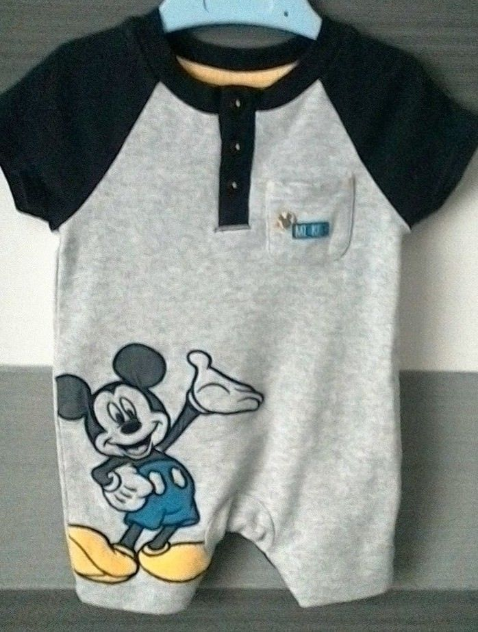 c1bfd07a438a Baby Boys Disney Mickey Mouse Romper Playsuit 0-3 months ...