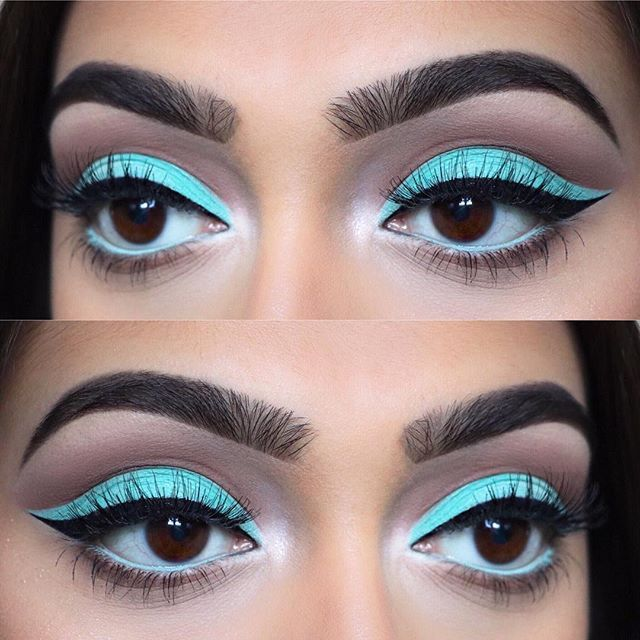 "Tiffany blue cut crease closeup Eyes: @morphebrushes • 35B and 35O palettes Brows: @anastasiabeverlyhills • Brow wiz in ""ebony"" and ""dark brown"" Liner: @tartecosmetics • black clay tarteist liner Lashes: @ardell_lashes • ""whispies"" Used @morphebrushes to create this look #makeup #instamakeup #cosmetic #cosmetics #mua #fashion #eyeshadow #lipstick #gloss #mascara #palettes #eyeliner #lip #lips #tar #concealer #foundation #powder #eyes #eyebrows #eyelashes #primers #beauty #beautiful…"