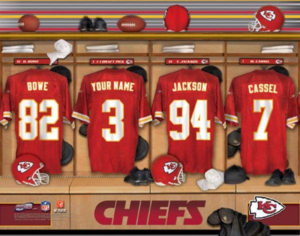 Kansas City Chiefs Nfl Football Personalized Locker Room