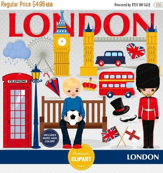 80% OFF SALE London clipart, Boy clipart, England clip art, British party, Travel clipart, London scrapbooking, Digital images - CA397 by PremiumClipart on Etsy