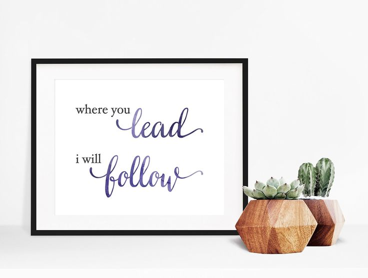 "Where You Lead I Will Follow Gilmore Girls Poster. Perfect for fans of Gilmore Girls and Carole King... Where You Lead, I Will Follow-- just try not to get the theme song stuck in your head! This print is perfect for your office, gallery wall or bedroom! **Please note that the frame is NOT INCLUDED ** MAT IT: We also offer a matted option for our smaller sizes (5x7"" and 8x10""). If you select this option, we will center your print on a professional mat, and finish it off with a firm…"
