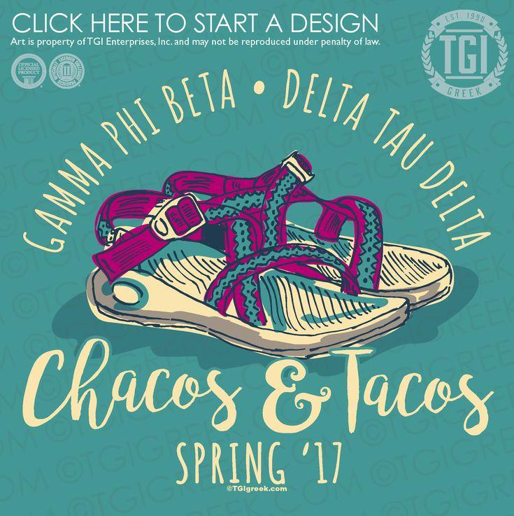 Gamma Phi Beta | ΓΦΒ | Delta Tau Delta | ΔTΔ | Chacos and Taco | Date Party | Greek Mixer | TGI Greek | Greek Apparel | Custom Apparel | Sorority Tee Shirts | Sorority T-shirts | Custom T-Shirts