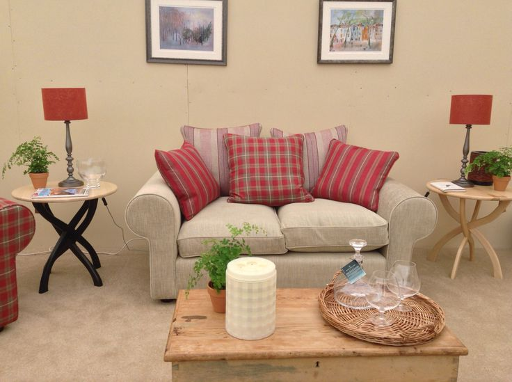The warm and cosy lounge with Devonshire Sofas and everything supplied in the South West..even the paint and the books!