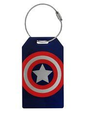 Captain America Shield Metal Bag Tag