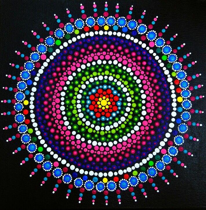 Mandala painted