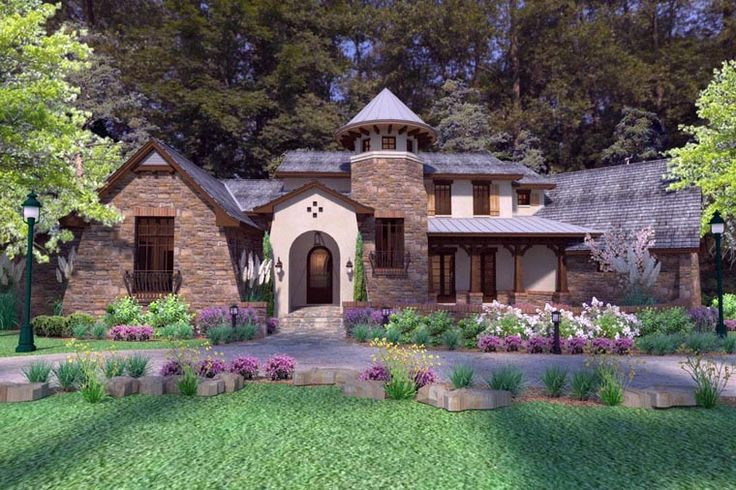 Luxury Tuscan Style House Plan 75132 Has 3927 Square Feet