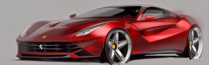 Ferrari F12 Berlinetta official rendering by Giacomo Pierin
