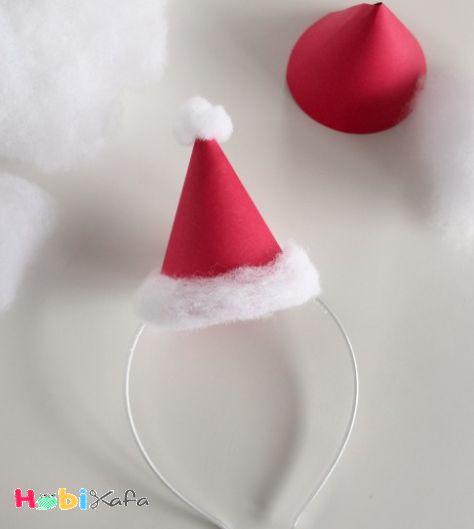 Noel baba şapkası yapılışı 5