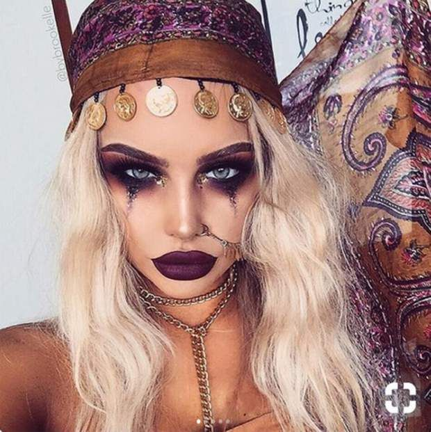 maquillage halloween glamour