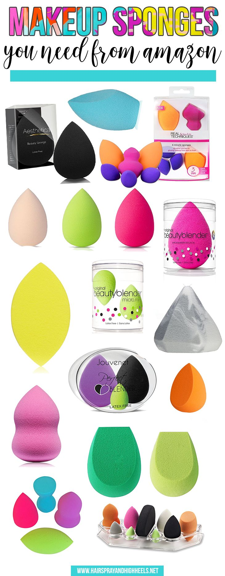 Bookmark this! This blogger has rounded up the BEST makeup sponges that you can buy on AMAZON!!!