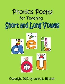 "Vowels (a, e, i, o, u) & 23 phonics poems targeting short vowels and long vowels!   <a href=""http://www.teacherspayteachers.com/Product/Phonics-Poetry-Anthology-133-Phonics-Poems-405095"">Phonics Poetry Anthology: 133 Phonics Poems</a>"