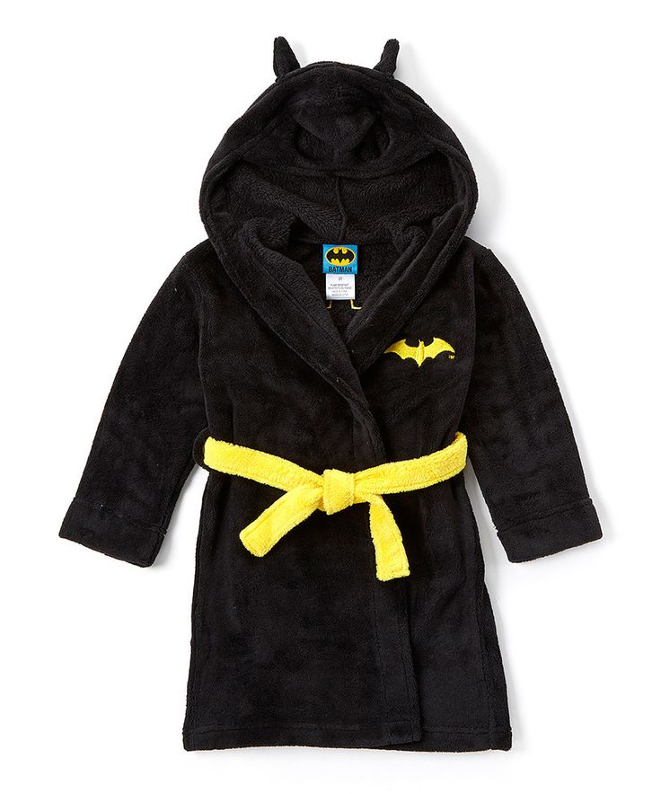 Look what I found on #zulily! Batman Robe with Hood - Toddler & Boys by Batman #zulilyfinds