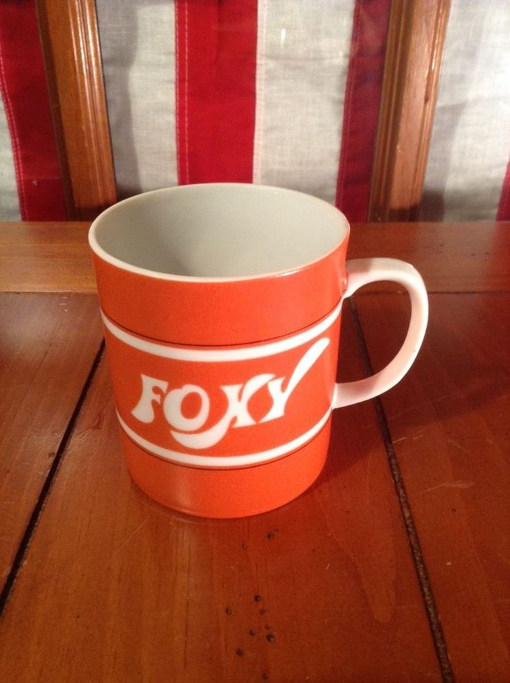 FOXY Orange Coffee  Cup Mug Decorative Kitchen Collectible Lady What Does The