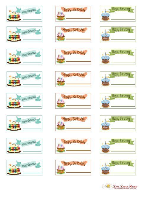 Free Planner Printables - Happy Birthday - Live.Learn.Kreate