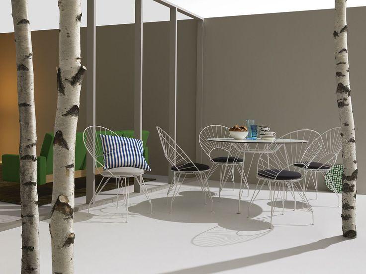 Awesome Modern Tisch aus Metall f r den Au enbereich oval DESIR E Swedese M bler