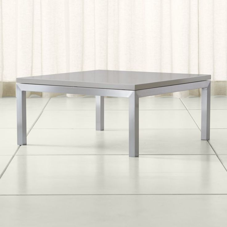 Solid Stainless Steel Coffee Table: Shop Parsons Grey Solid Surface Top/ Stainless Steel Base