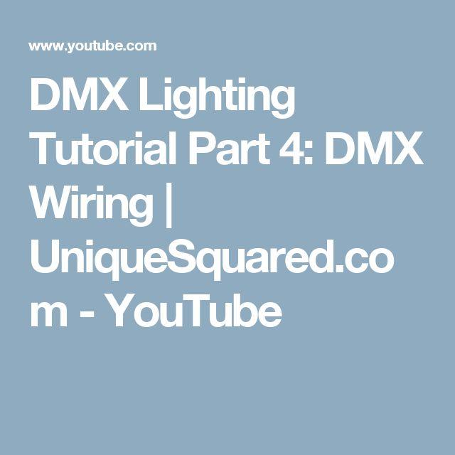 DMX Lighting Tutorial Part 4: DMX Wiring | UniqueSquared.com - YouTube