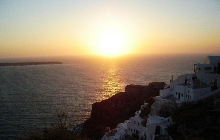 The amazing #sunset in #Santorini #VarietyCruises