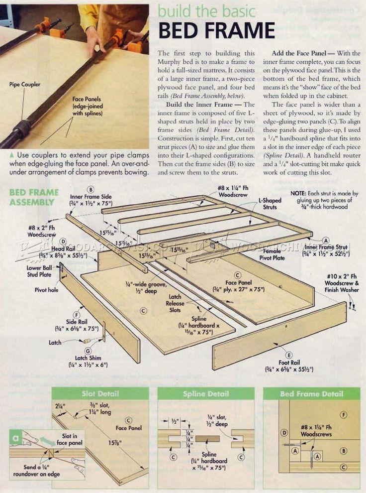2932 Murphy Bed Plans Furniture Plans Carpinter A