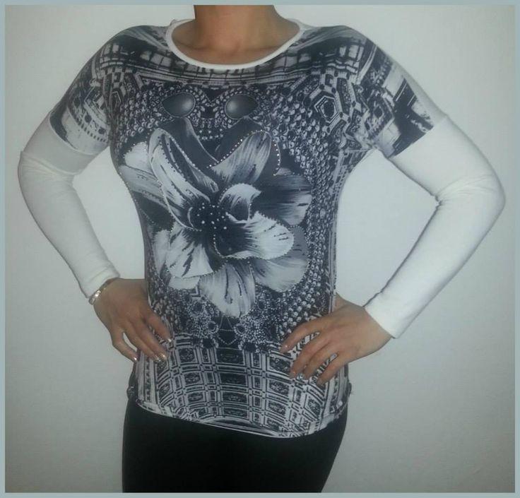 Tričko s kvetom #tričko #dlhý rukáv