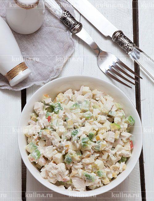 Салат из курицы с авокадо - рецепт с фото
