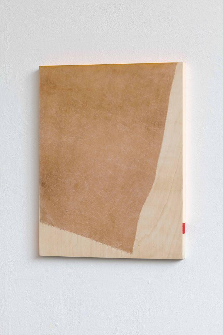 Jane Bustin, Tabitha silk, 40cm x 30cm, acrylic, oil, tea, silk, wood, 2013