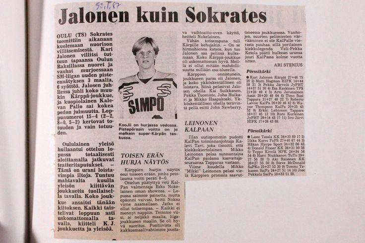 Kausi 1986-1987 arkistot - Oulun Kärpät - vuodesta 1946