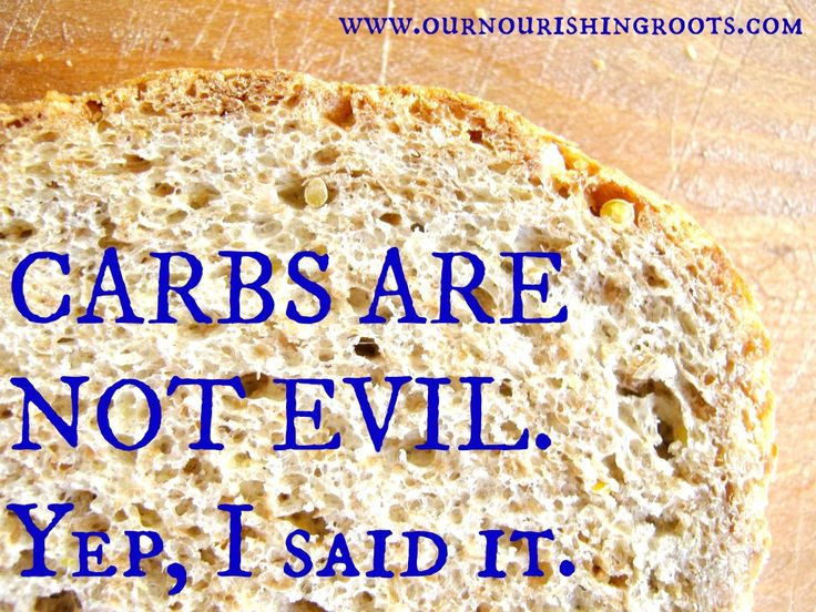 Carbs are not evil / @our nourishing roots / http://ournourishingroots.com/anti-diet-challenge-day-11-carbs-are-not-evil/