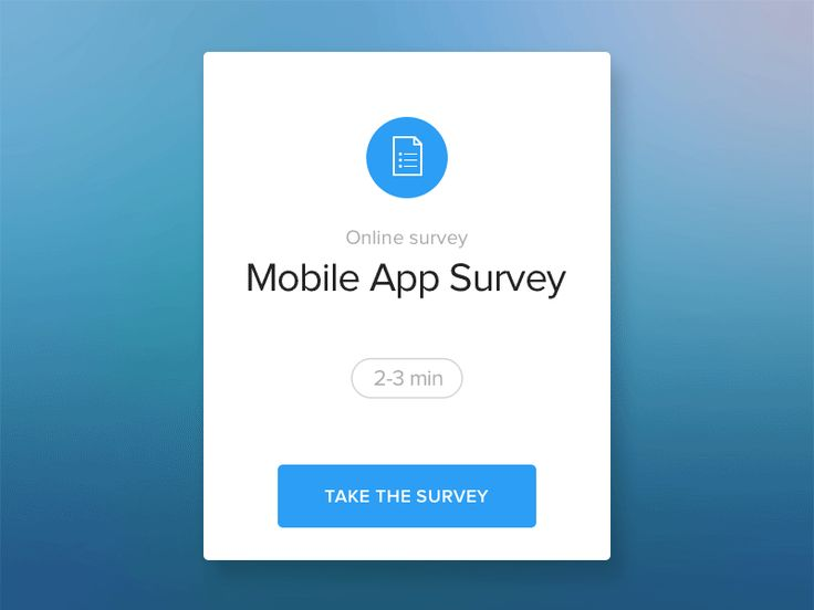 Simple survey screen animation.