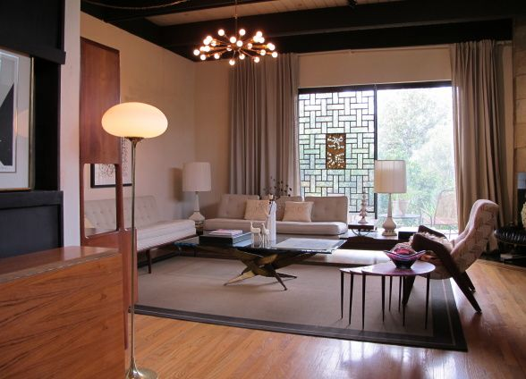 mid century modern living rooms - Google Search