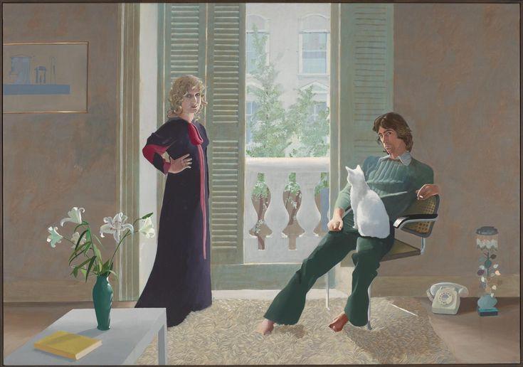 David Hockney, 'Mr and Mrs Clark and Percy' 1970–1