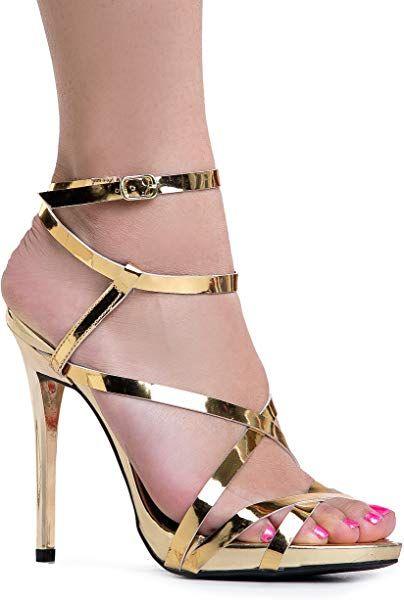 0f78decf2ecd7 Amazon.com | Strappy High Heel Sandal - 7.5 B(M) US | Heeled Sandals ...