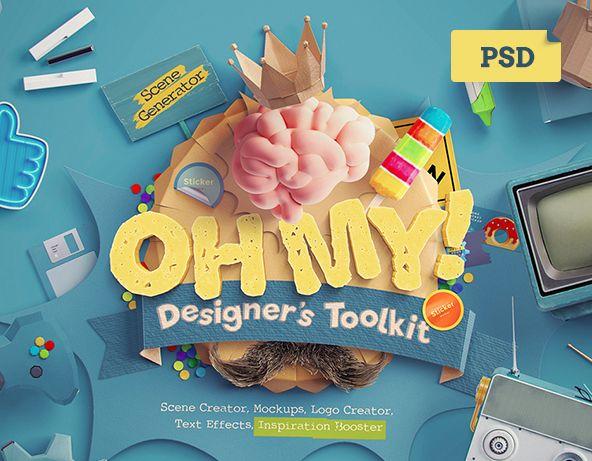 """다음 @Behance 프로젝트 확인: """"Oh My! Designer's Toolkit"""" https://www.behance.net/gallery/35614527/Oh-My-Designers-Toolkit"""
