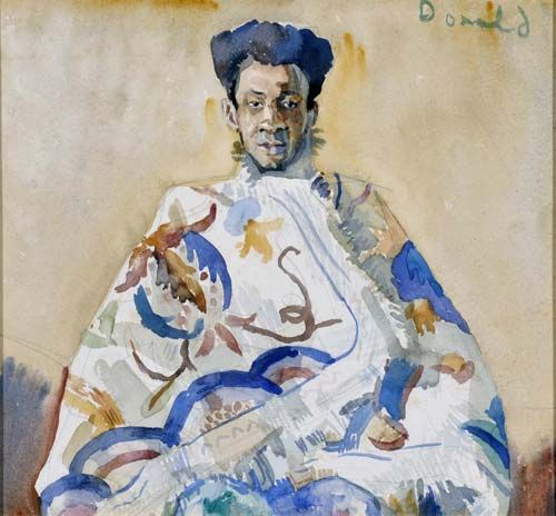 African Pricne Rununga Wunca by Donald Friend at Richard Martin Art - THE DAWN O'DONELL BEQUEST - important private collection being offered...