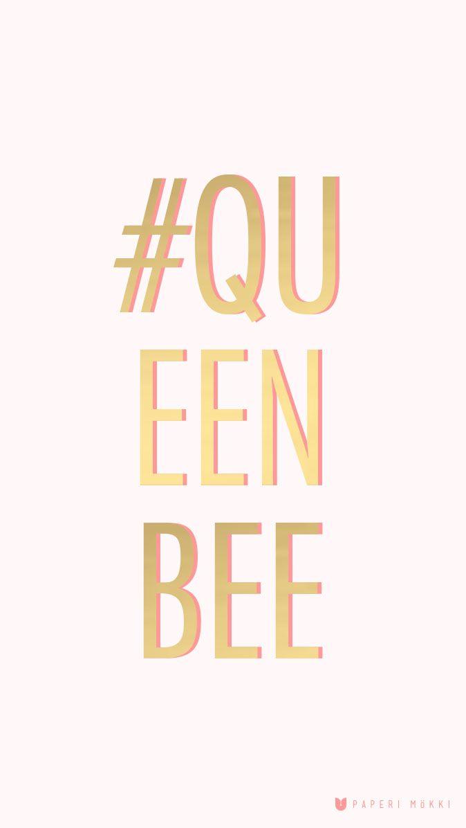 Paperi Mökki Queen Bee iPhone Wallpaper