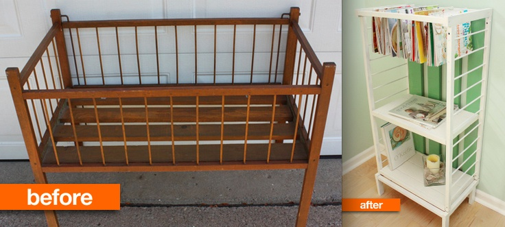 from apartment therapy what to do with an old crib dyi