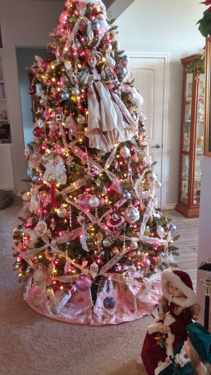 Victorian Theme Tree   Pink christmas, Christmas ...