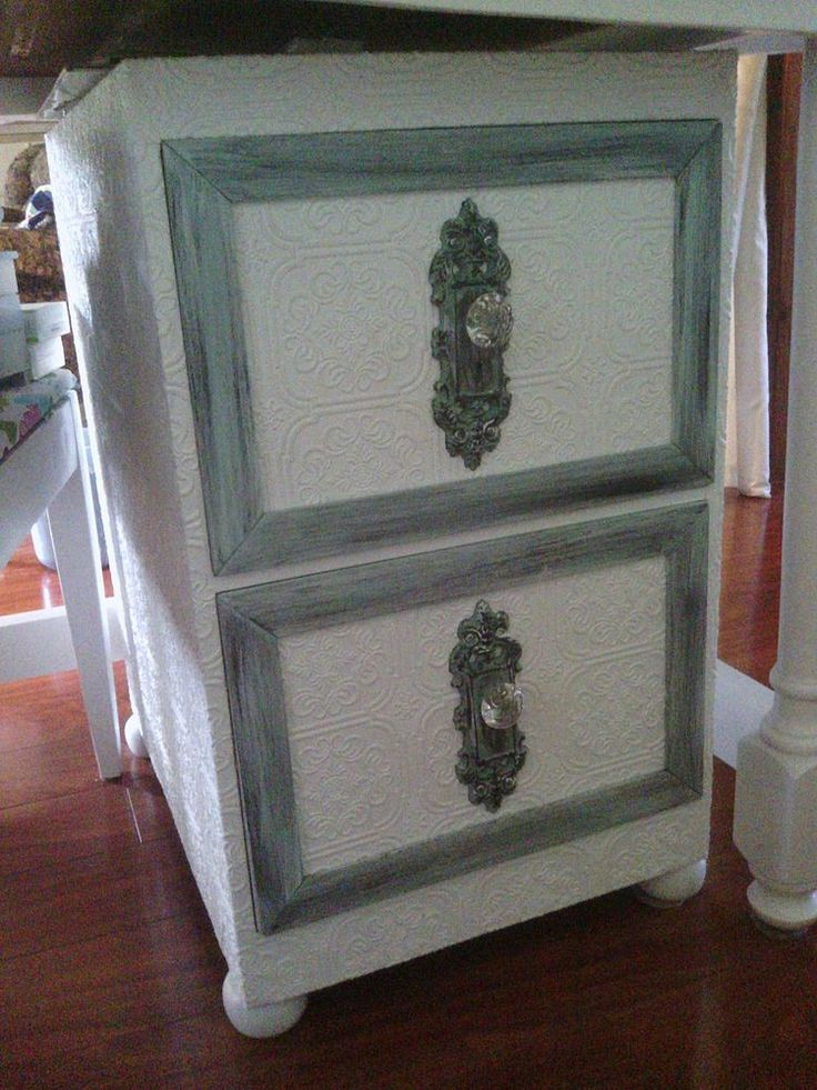 17 best images about diy crates spools dressers on Upcycled metal filing cabinet