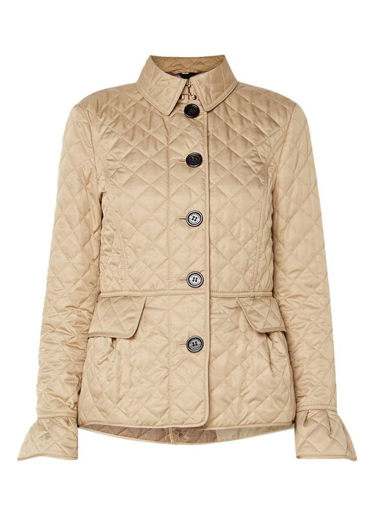 BURBERRY Gewatteerde jas met peplum detail