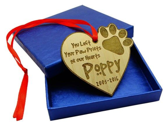Custom Wooden Engraved Pet Memorial Ornaments, Wooden Tree Ornaments, Personaliz…   Picture ...