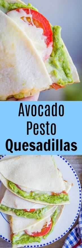 These Avocado Pesto Quesadillas are so flavorful and delicious! They're a quick and easy dinner that is perfect for summer! Gluten Free/30 Minute Dinner/Vegetarian