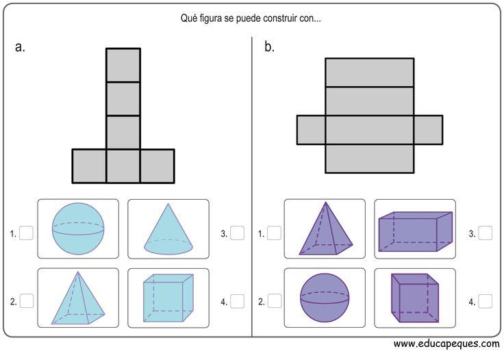 Recursos educativos: Figuras geométricas Hoy os dejamos ejercicios para trabajar las figuras geométricas en dos y tres dimensiones para alumnos