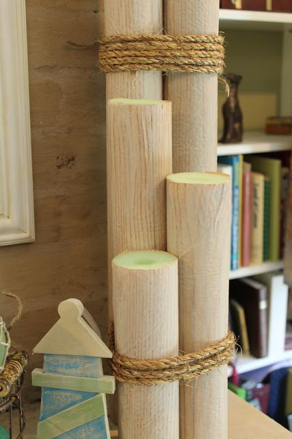 "How to make ""pilings"" from water noodles. Prefect for the boys' pirate themed room!"