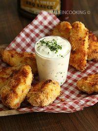 Filets de poulet croustillants au four. Plus de recettes express ici : www.enviedebienmanger.fr/idees-recettes/recettes-express