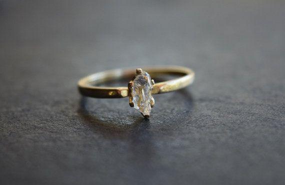 Taille 6 14 k or diamant bague bague de fiançailles par Avello