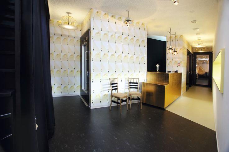 modez mode design hotel featuring marmoleum flooring
