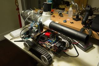 PiTank - a Web Controlled Tank With Cannon and Live Video Stream - All